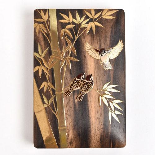 竹に雀の蒔絵のオーダーメイド